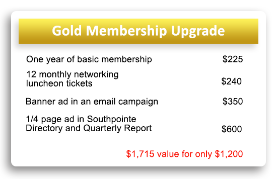 Southpointe Chamber Gold Membership
