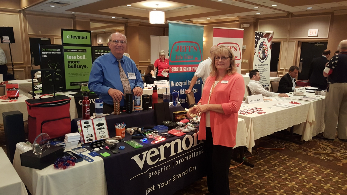 Vernon Sales at the Southpointe Chamber Racetrack Road Trade Show