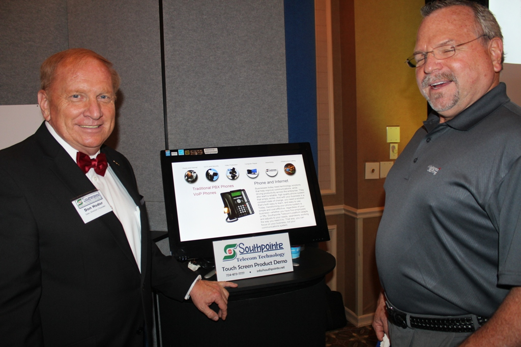 Southpointe Telecom Touch Screen Demo at the Racetrack Road Trade Show