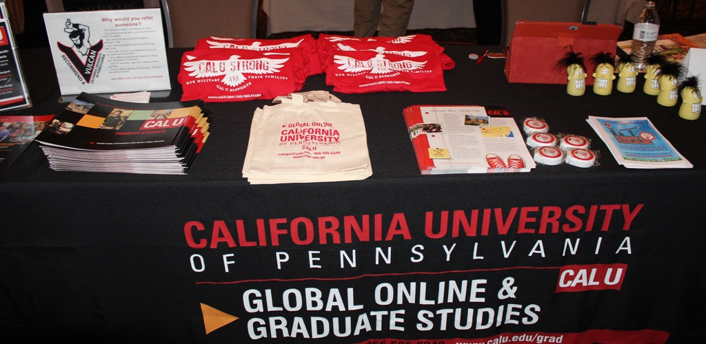 California University vendor display at a Southpointe Chamber Trade Show